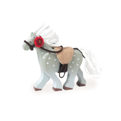 BK836-Grey-Wooden-Horse-Toy-Kids