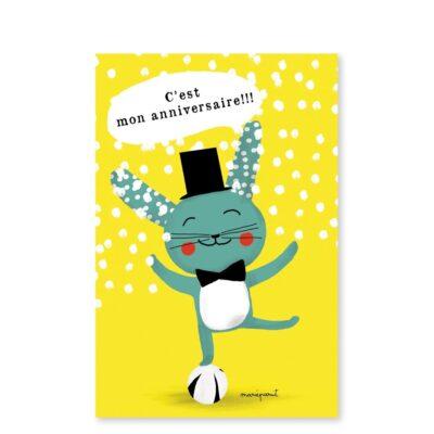 carte invitation anniversaire pirouette cacahouete