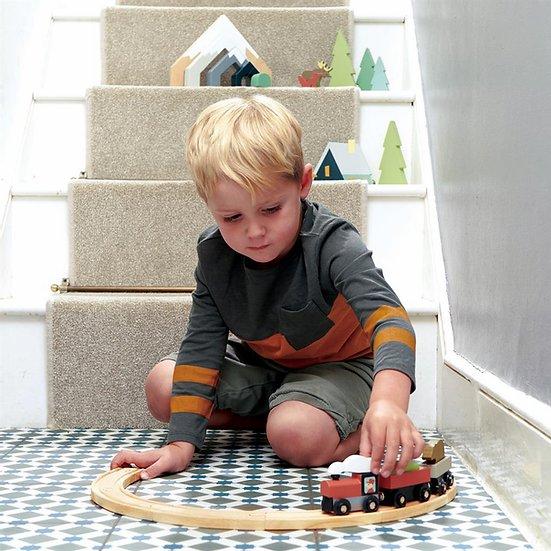 train en bois tender leaf toys