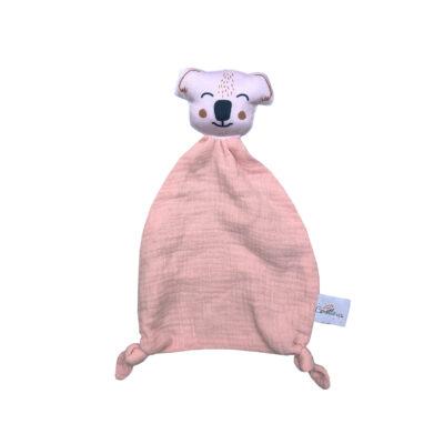 doudou plat koala rose coton bio
