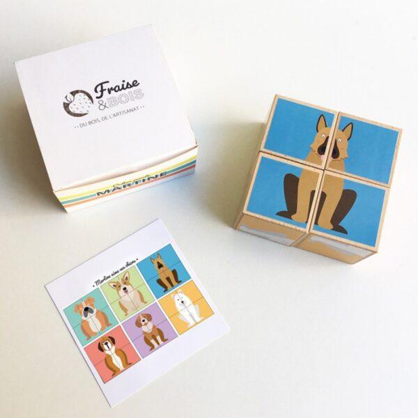 puzzle cube en bois fraise et bois