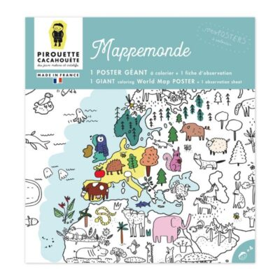 Poster mappemonde Pirouette Cacahouete