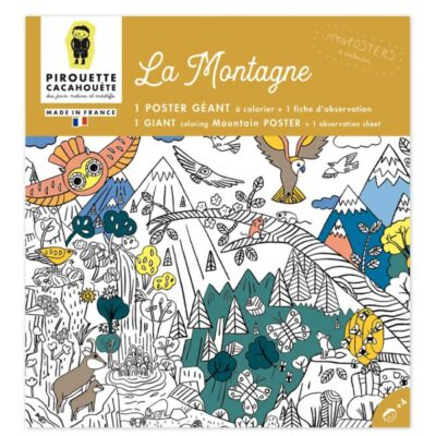 Poster montagne Pirouette Cacahouete
